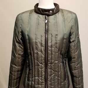 Michael Kors Down Puffer Jacket W/Faux Leather